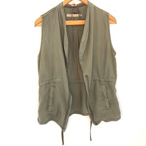 Max Jeans green open front vest